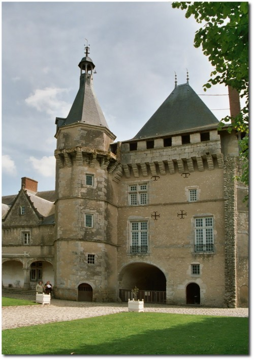 Castle of Talcy- View Of The Court