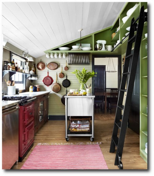 Country Living Green Paneling Kitchen