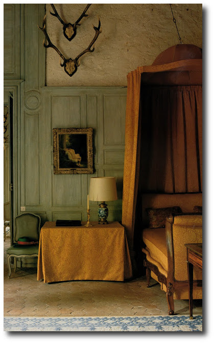 The duchess's bedroom at Chateaux de La Celle des Bordes.