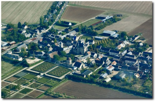 Talcy castle, aerial view