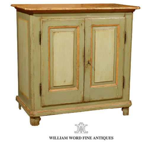 French Green Painted Buffet