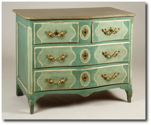 Provincial Louis XV Blue Painted Commode From David Easton Home Auction Highlights