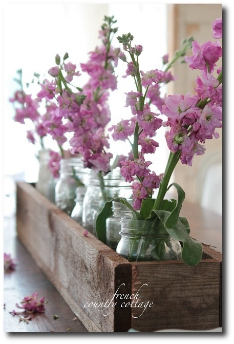 A Simple Way Of Displaying Flowers - French Provence Style From French Country Cottage Blog