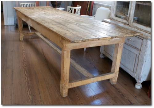 French Farmhouse Table- Ann Koerner Antiques
