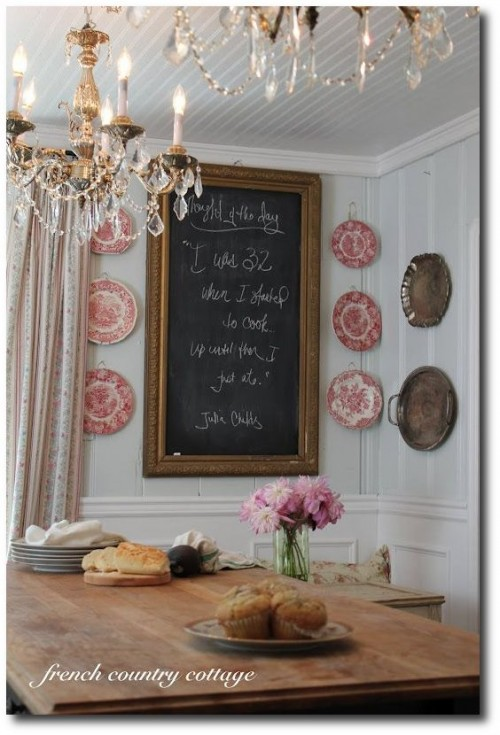 Rustic French Country Dining Table Seen At French Country Cottage Blog