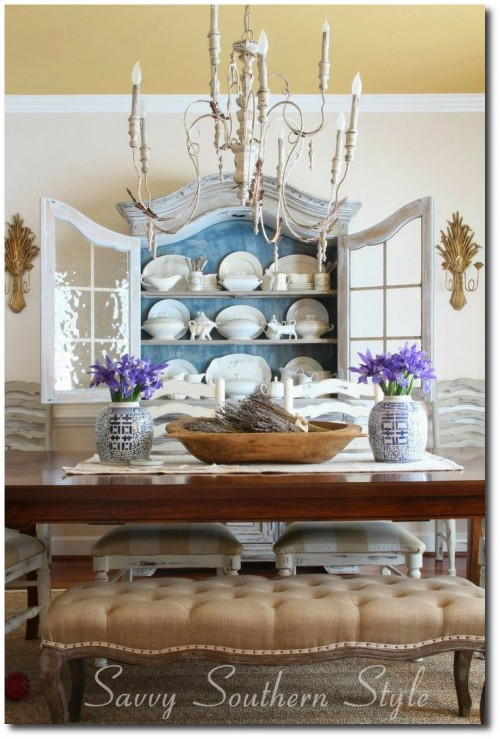 Savvy Southern Style Blogs' French Country Dining room