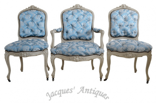 Set of 3 Napoleon III Period Chairs