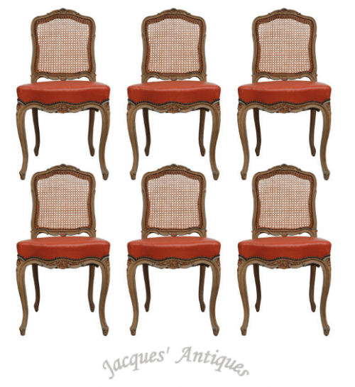 Set of Louis XV Cane back Chairs