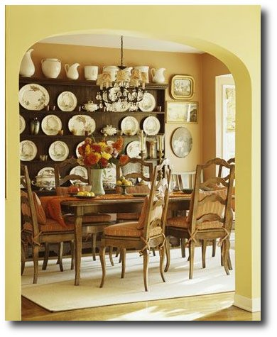 Yellow French Country Interiors Seen On Better Homes And Gardens Magazine
