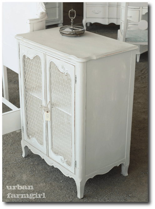BLOG urban farmgirl KANE COUNTY FLEA chicken wire cabinet1