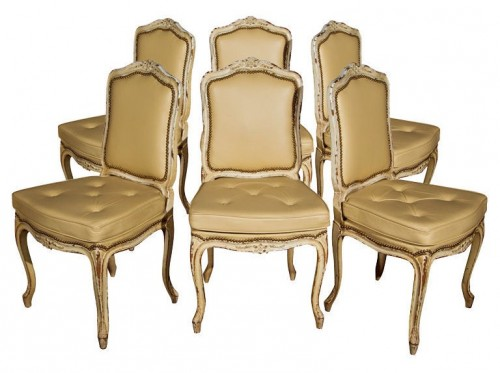 French Set of 6 Maison Jansen Dining Chairs Greenwich Living