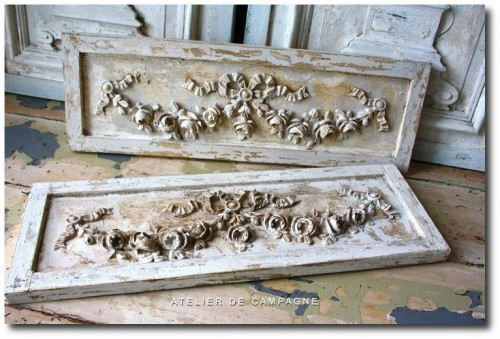 Ornate French Panels Louis XVI Seen at Atelier De Campagne