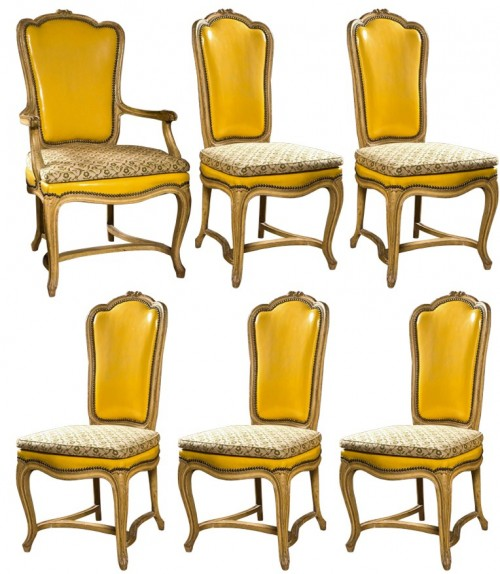 Set of 10 French Provincial Styled Dining Room Chairs By Jansen Greenwich Living