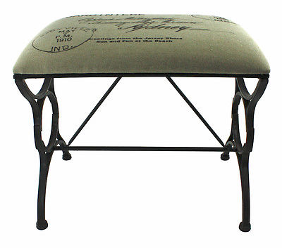 Upholstered Fabric Metal Bench - US $119.95 On Ebay