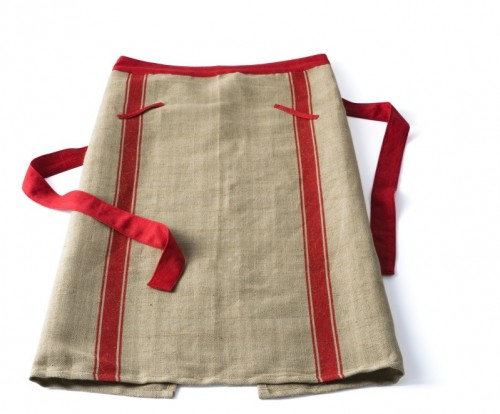 European Chef Apron Red Stripe - FrenchGardenHouse