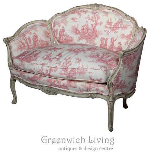 French Louis XV Style Settee Stamped Jansen Greenwich living
