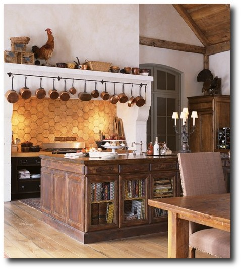 Grand farmhouse kitchen by Jill Kantelberg. House & Home.