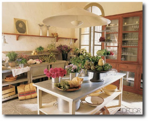 Home of designer Henri Quinta in Perpignan, France. Elle Decor.