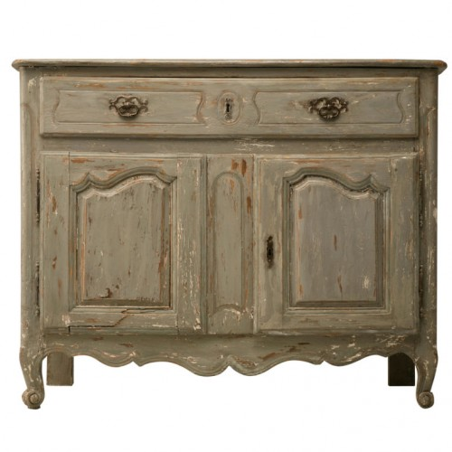 Original 18th C. Antique French Painted Louis XV Buffet Antiques on Old Plank Road