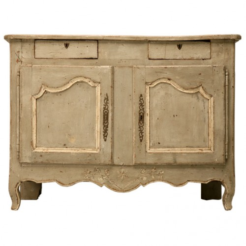 Original 18th C. French Louis XV 2 over 2 Painted Buffet Antiques on Old Plank Road