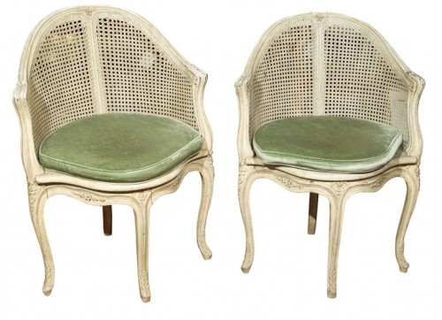 Pair of French Corner Chairs by Maison Jansen Greenwich Living