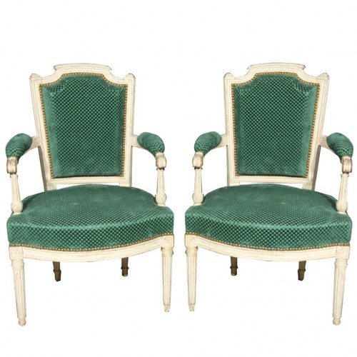 Pair of French Louis XVI Style Armchairs Greenwich Living