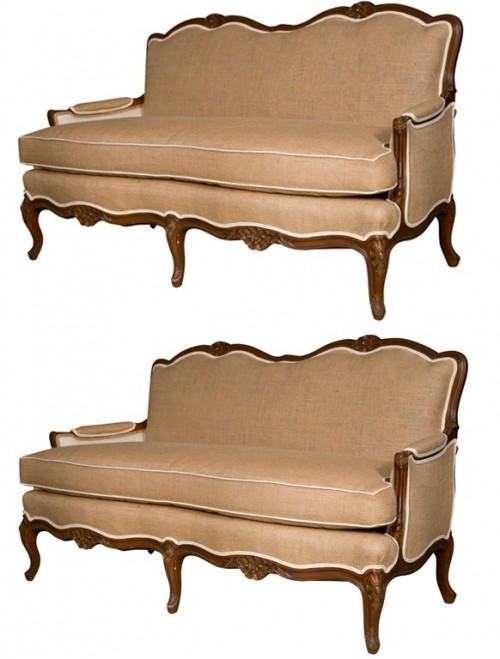 Pair of French Provincial Style Settees Greenwich Living