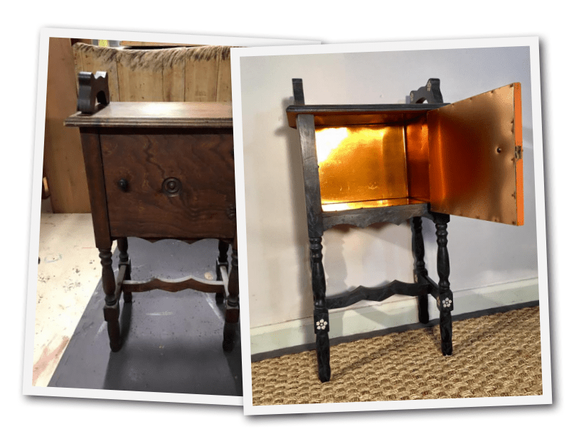 Anna Fiechter Who Lives In Saugerties, NY Took A Plain Sidetable, And  Transformed It Into Something Spectacular. I Believe Her Style Is Inspired  By The ...