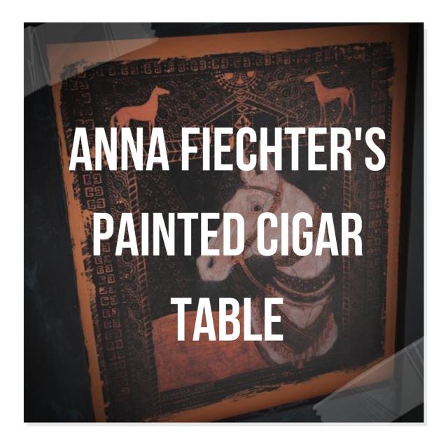 Anna Fiechter's Painted Cigar Table