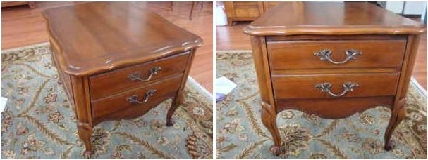 french provincial nightstand sidetable French Provincial Nightstand