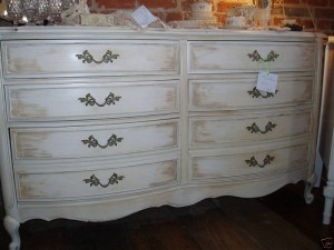 French Provincial Style Turquoise 9 Drawer Dresser