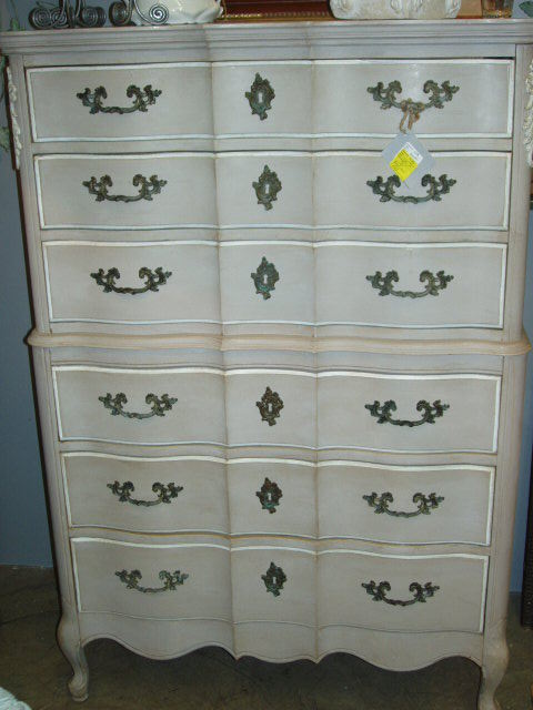 Finest French Style Painted Chest of Drawers - Tall Dresser Ebay Seller A  XG67