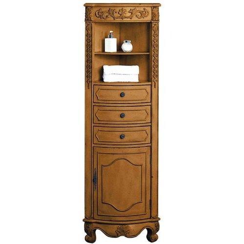 Corner Linen Storage Cabinet In Oak